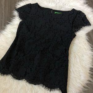 C. Wonder Black Lace Top